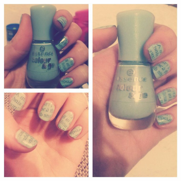 #Newspaper nails#essence#146 that's what i mint!#cool#easy#