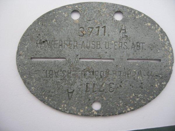 Erkennungsmarke d'un Waffen-SS d'une unité de lance-roquettes.