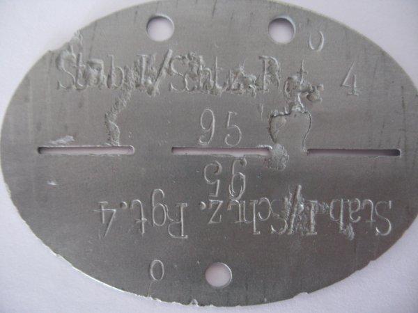 Erkennungsmarke d'un tirailleur de la Wehrmacht.