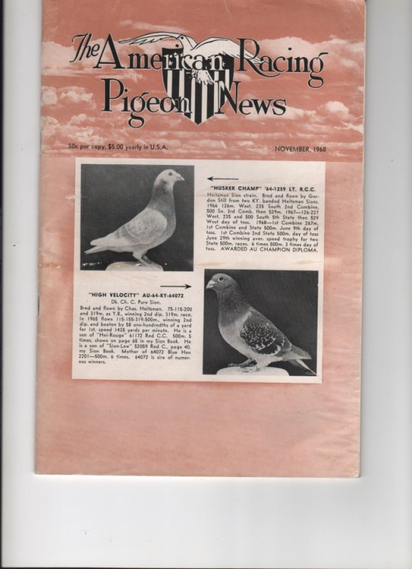 The American Racing Pigeon News November 1968