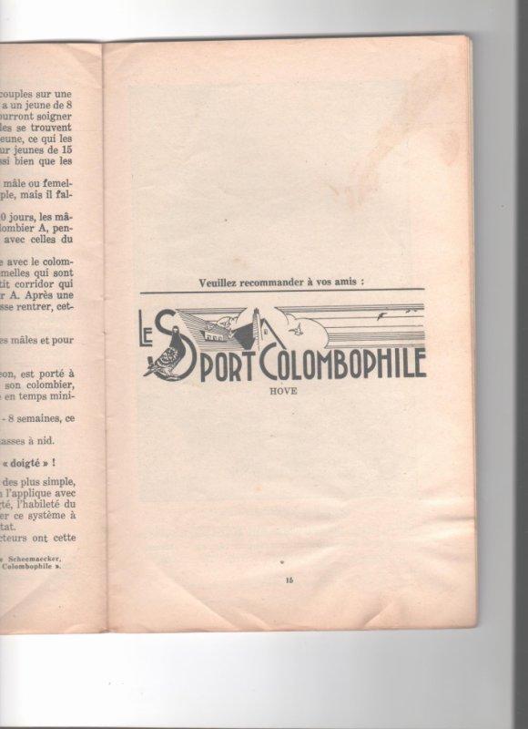 le sport colombophile - la revue verte - décembre 1939