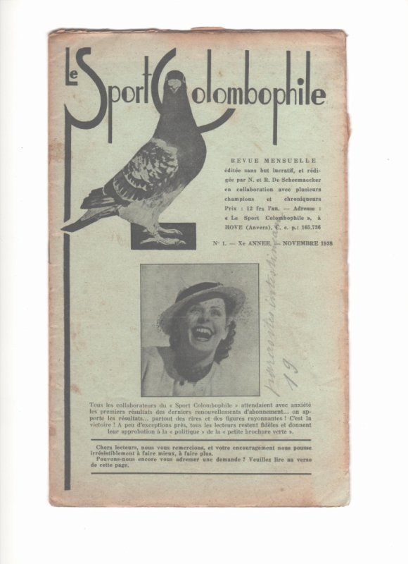 le sport colombophile