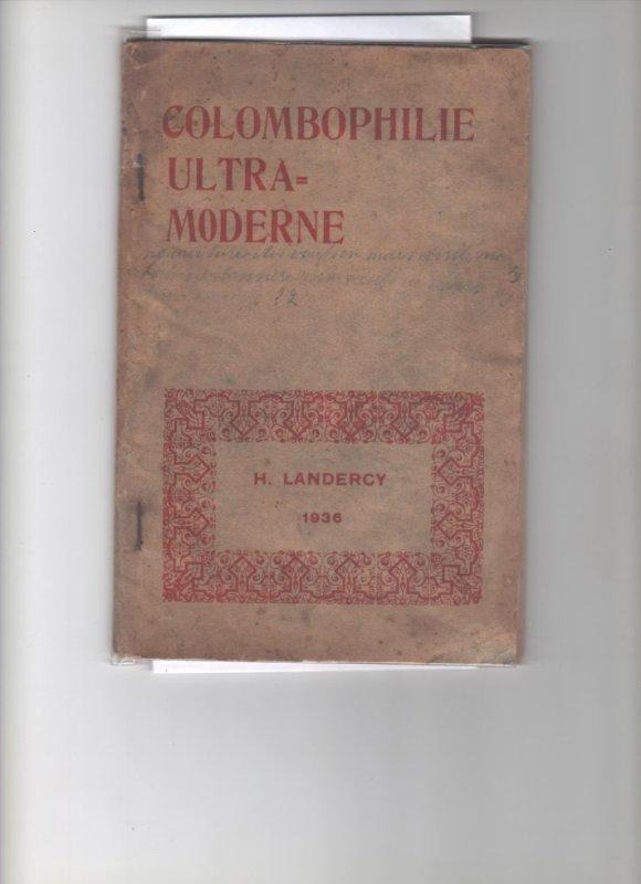 livre La Colombophiluie ultra moderne par henri Landercy