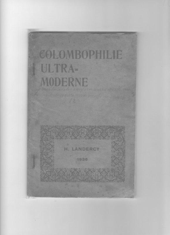 Livre intitulé colombophilie ultra moderne de Henry LANDERCY