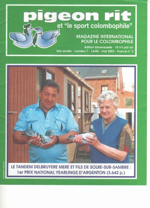 Revue PIGEON  RIT  de mai  2003 France N° 6  MELANGE QUATRE   QUART
