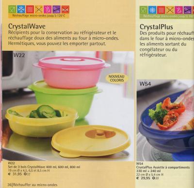 crystalwave et crystalplus tupperware 31. Black Bedroom Furniture Sets. Home Design Ideas