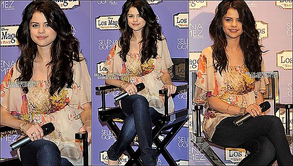 ▬ Notre sublime Selena G. a une conférence de presse en Espagne