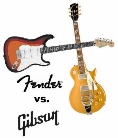 The match: Fender vs Gibson