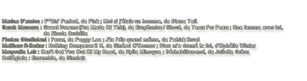 Liste des chanson.
