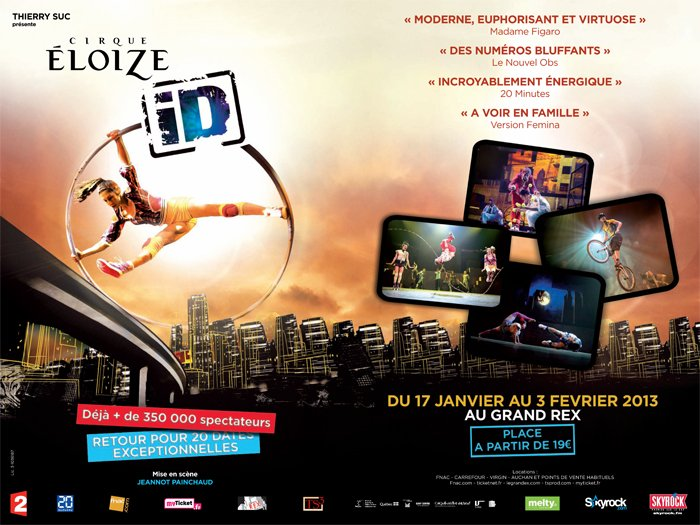 Spectacle iD du Cirque Eloize