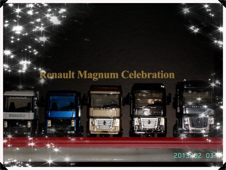 COFFRET RENAULT MAGNUM CELEBRATION