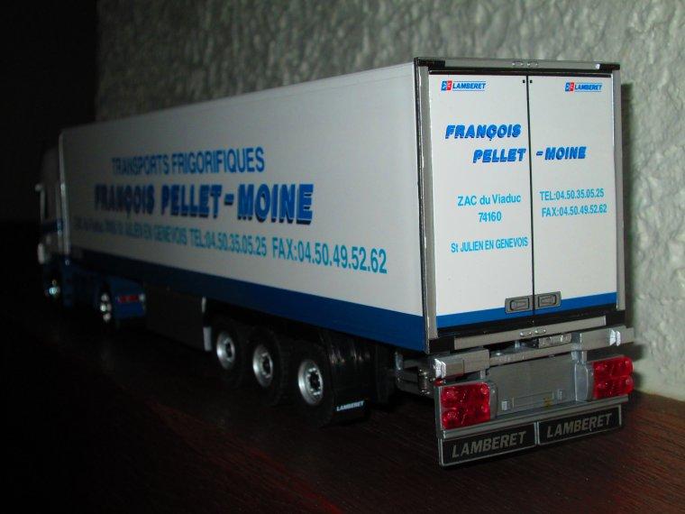 SCANIA R 500 SEMI FRIGO LAMBERET TRANSPORTS  PELLET- MOINE