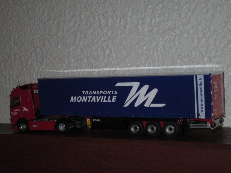 VOLVO GLOBETROTTER FH 4 SEMI TAUTLINER TRANSPORTS MONTAVILLE