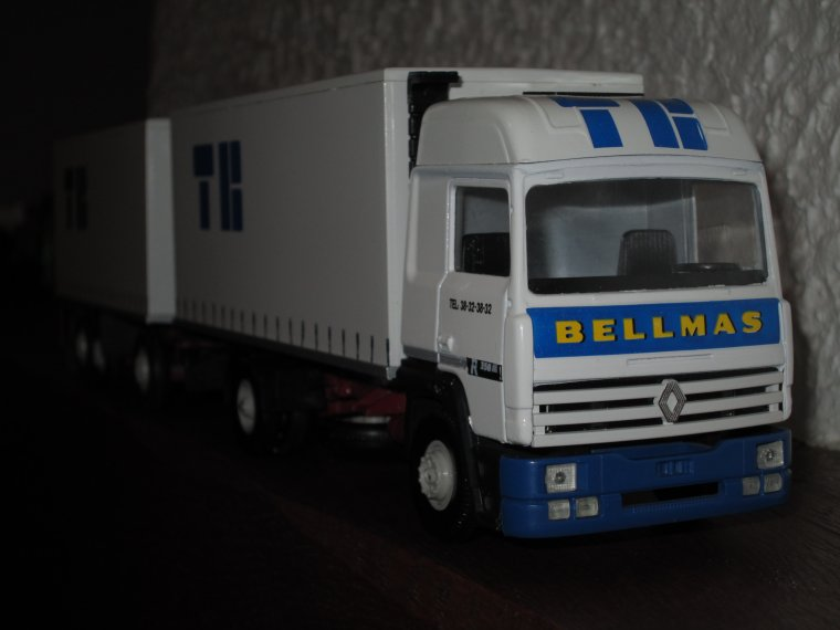 RENAULT R 350 PORTEUR REMORQUE TRANSPORTS BELLMAS