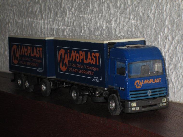"RENAULT R 350 PORTEUR REMORQUE ""INOPLAST"""