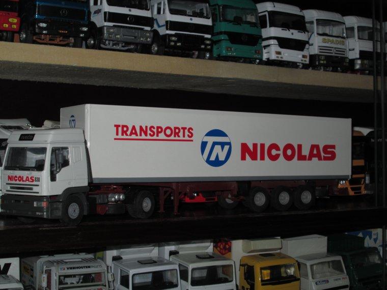 IVECO EUROTECH SEMI FOURGON TRANSPORTS NICOLAS