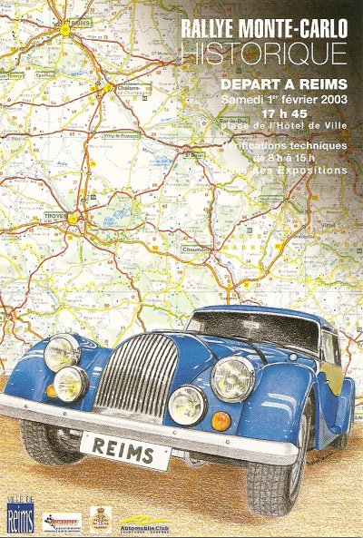 DEPART RALLYE MONTE-CARLO HISTORIQUE 2003 REIMS