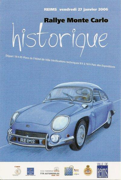 DEPART RALLYE MONTE-CARLO HISTORIQUE 2006 REIMS