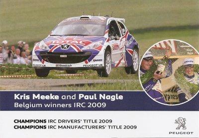 PEUGEOT 207 SUPER 2000 - KRIS MEEKE
