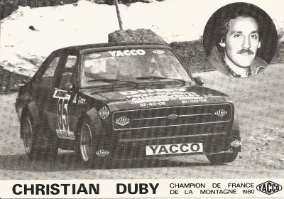 FORD ESCORT RS 1800 - CHRISTIAN DUBY
