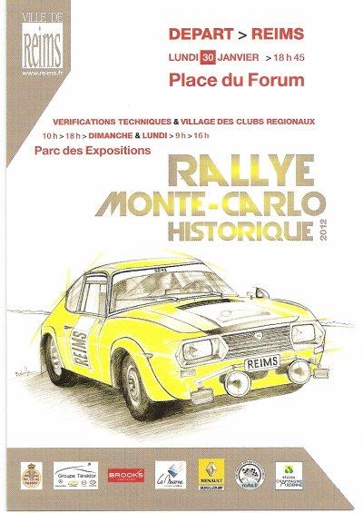 DEPART RALLYE MONTE-CARLO HISTORIQUE 2012 REIMS