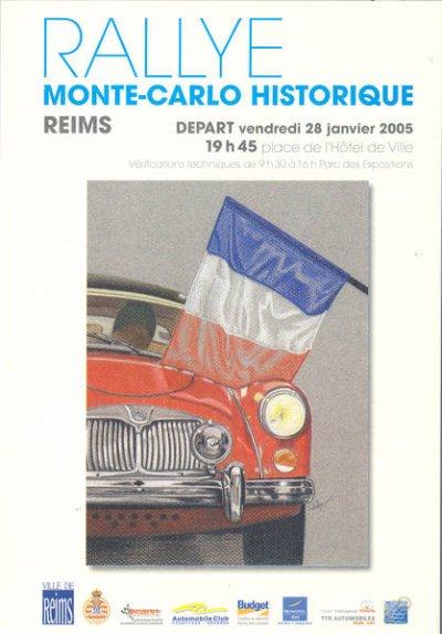 DEPART RALLYE MONTE-CARLO HISTORIQUE 2005 REIMS