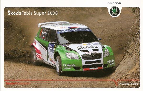 POUR ECHANGE - SKODA FABIA SUPER 2000 - JAN KOPECKY