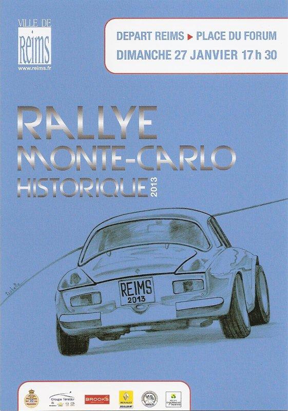 POUR ECHANGE - DEPART RALLYE MONTE-CARLO HISTORIQUE 2013 REIMS