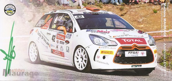 CITROEN DS3 - MATHIEU MAURAGE (RECTO/VERSO)