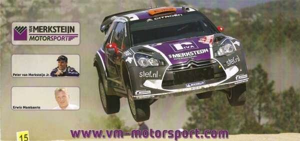 CITROEN DS3 WRC - PETER VAN MERKSTEIJN JR