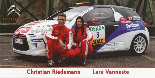 CITROEN DS3 - CHRISTIAN RIEDEMAN (RECTO/VERSO)