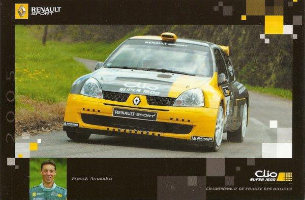 POUR ECHANGE - RENAULT CLIO SUPER 1600 - FRANCK AMAUDRU
