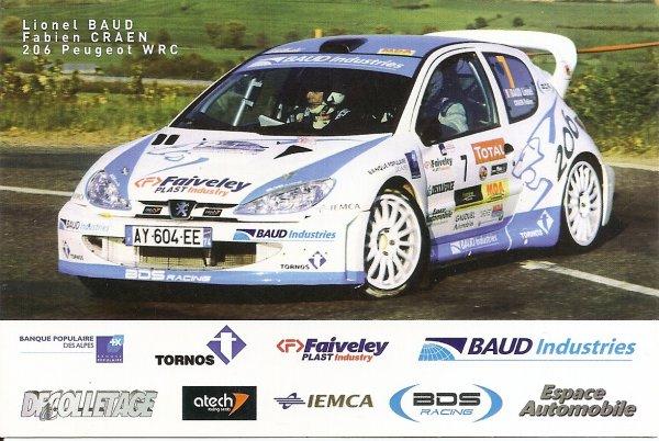 PEUGEOT 206 WRC - LIONEL BAUD