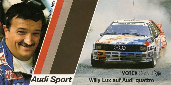 AUDI QUATTRO - WILLY LUX