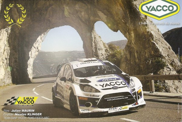POUR ECHANGE - FORD FIESTA WRC - JULIEN MAURIN