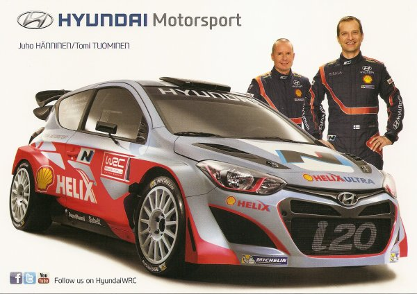 HYUNDAI i20 WRC - JUHO HANNINEN