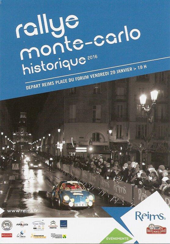 DEPART RALLYE MONTE-CARLO HISTORIQUE 2016 REIMS