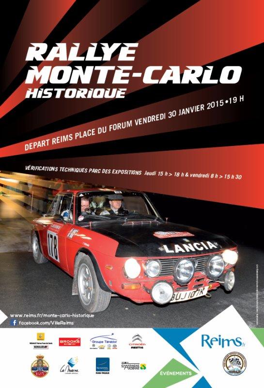 DEPART RALLYE MONTE-CARLO HISTORIQUE 2015 REIMS