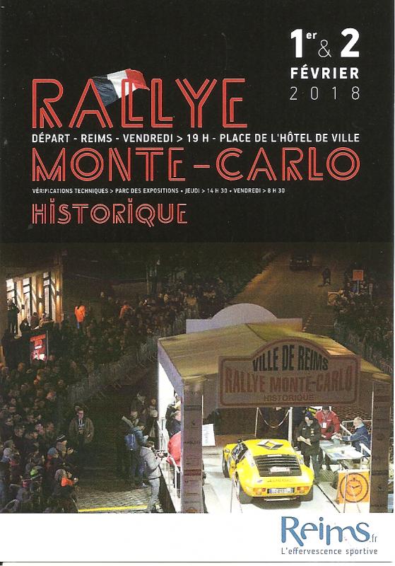 POUR ECHANGE - DEPART RALLYE MONTE-CARLO HISTORIQUE 2018 REIMS