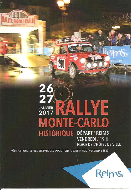 POUR ECHANGE - DEPART RALLYE MONTE-CARLO HISTORIQUE 2017 REIMS