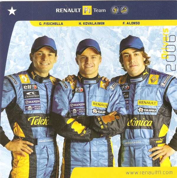 POUR ECHANGE - RENAULT-SPORT - DRIVERS 2006