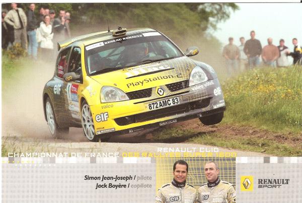 POUR ECHANGE - RENAULT CLIO SUPER 1600 - SIMON JEAN-JOSEPH