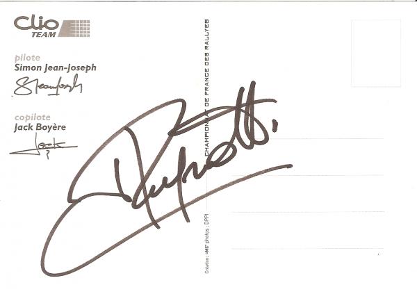POUR ECHANGE - RENAULT CLIO SUPER 1600 - SIMON JEAN-JOSEPH (AUTOGRAPHE RAGNOTTI)