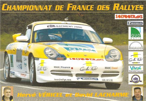POUR ECHANGE - PORSCHE 996 GT3 - HERVE VERICEL