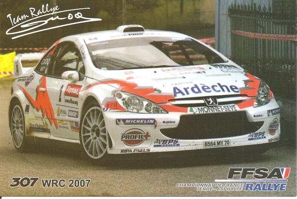 POUR ECHANGE - PEUGEOT 307 WRC - JEAN-MARIE CUOQ