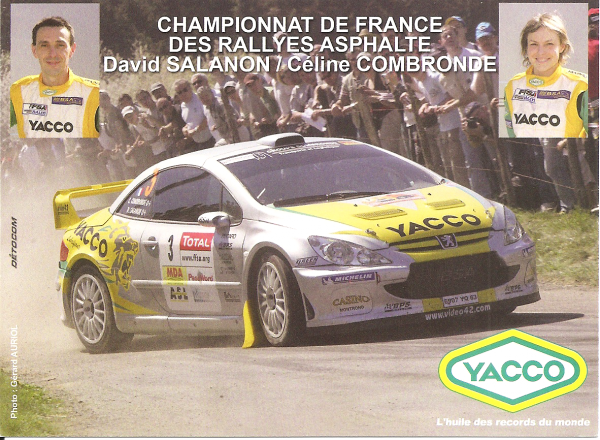 POUR ECHANGE - PEUGEOT 307 WRC - DAVID SALANON