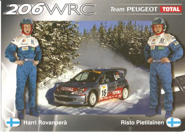 POUR ECHANGE - PEUGEOT 206 WRC - HARRI ROVANPERA (2001)