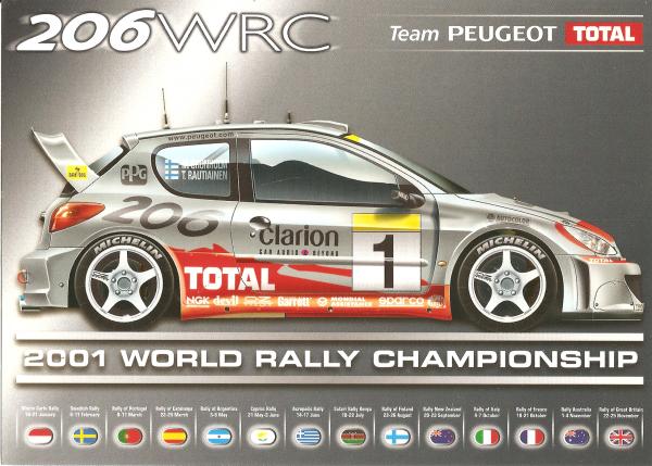 POUR ECHANGE - PEUGEOT 206 WRC (2001)