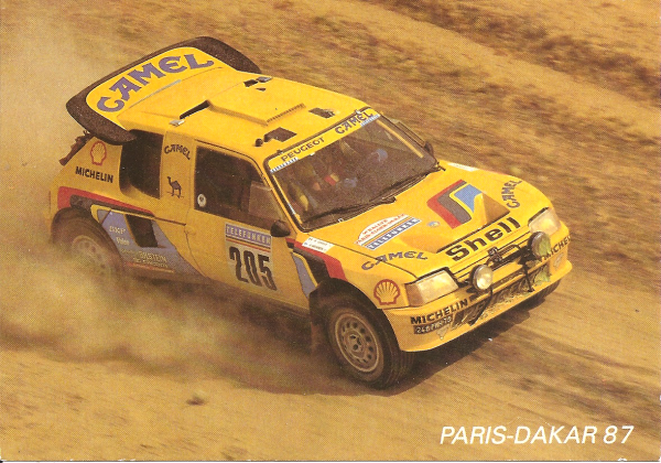 POUR ECHANGE - PEUGEOT 205 TURBO 16 - PARIS-DAKAR