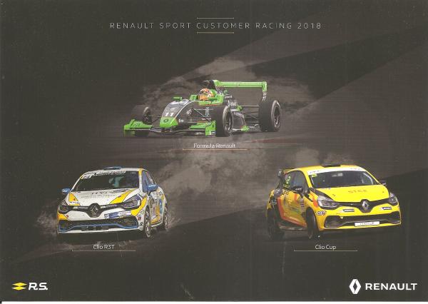 POUR ECHANGE - RENAULT-SPORT - FORMULA RENAULT / CLIO R3T / CLIO CUP